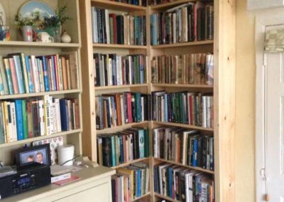 New Corner Bookshelves
